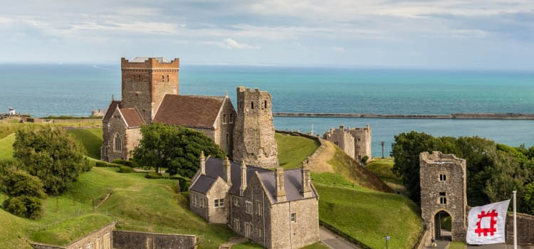 Dover castle in the summer